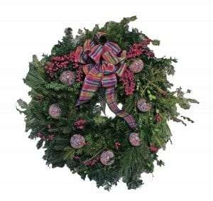 holiday wreath provided by Columbia County Historical Society