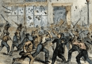 19th century riot illustration detail