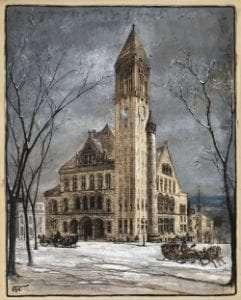 Albany City Hall by Harry Fenn