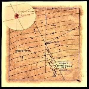 C1 Colvin's TwnShp 42-41 Corner Map