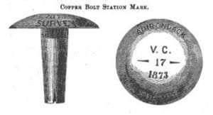 C3 Bench Mark's in 1873 Colvin Report
