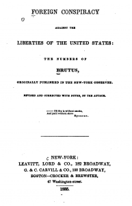 Cover of Foreign Conspiracy Against the Liberties of the United States by Samuel F.B. Morse, 1835 edition