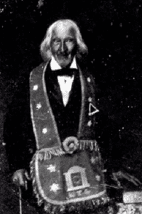 Daguerreotype believed to be the image of Uriah Gregory near the end of his life