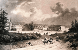 Early Image of Saratoga Springs and Congress Hall