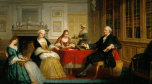 George Washington and Family by Thomas Pritchard Rossiter, 1858-1860