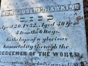 Hawkins tombstone