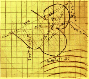 Map of north end of Twitchell Lake