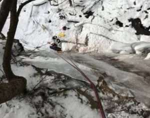 Rangers rescue ice climber
