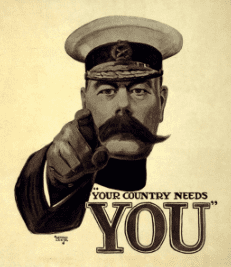 The 1914 poster based on Bassanos photograph of Kitchener