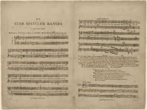 The earliest surviving sheet music of The Star Spangled Banner 1814