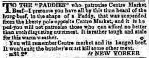 To the Paddies (NYC 1830s)