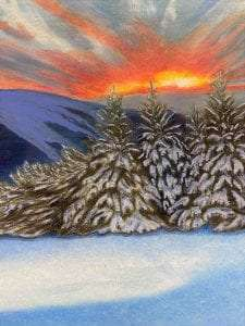 winter landscape by Bonnie Haney