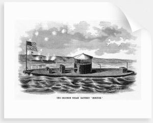 Ericssons design of a steam-powered warship Monitor