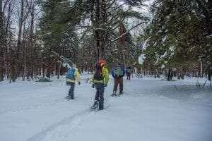 A winter field trip © Erika Bailey/Adirondack Land Trust