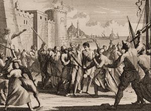 Landing en mishandeling van gevangenen in Algiers