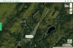 Piseco Airport map courtesy Adirondack Atlas