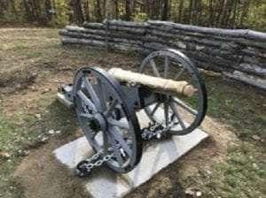 Bennington Battlefield cannon