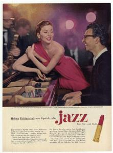Dave Brubeck and Rubensteins new lipstick in 1954