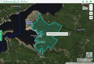 Hinckley Day Use Area map courtesy Adirondack Atlas