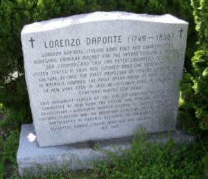 Lorenzo Da Pontes memorial
