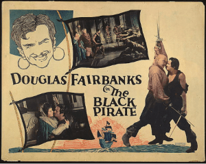 Movie poster for Douglas Fairbanks in The Black Pirate