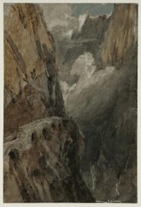 The Schöllenen Gorge from the Devils Bridge