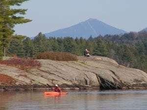 Tommy's Rock on Upper Saranac Lake