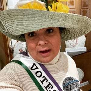 Suffrage Singer provided by Crandall Library
