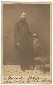 Alexander Vedder in Union military uniform