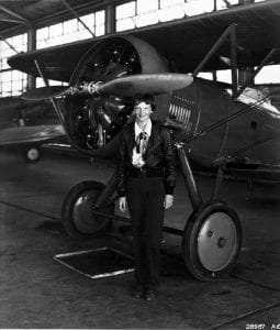 Amelia Earhart courtesy National Archives