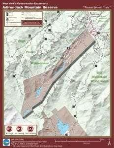 Ausable Club Adirondack Mountain Reserve Map