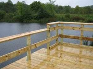 Chittning Pond fishing pier