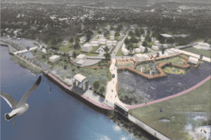 East Strand waterfront design proposal along the Rondout Creek