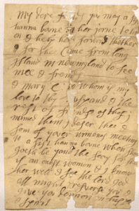 George Fox letter for Hannah Bowne