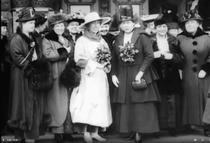 Jeannette Rankin in motion picture newsreel films used for a documentary series on World War I