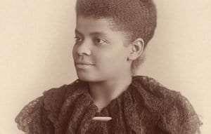 Ida B. Wells Barnett, in a photograph by Mary Garrity from c. 1893