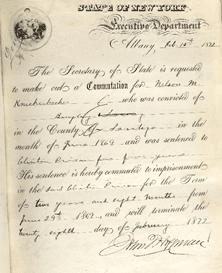 Nelson Knickerbocker prison release Feb 28 1872