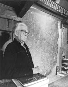 Paul Schaefer in the Adk Room, c. 1989