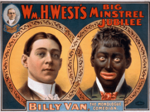 Poster reproduction of William H Wests minstrel show