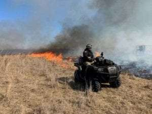 Prescribed burn in Ulster County