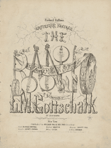 The Banjo 1855 sheet music cover