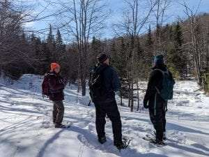 Adirondack Land Trust staff at a 60-acre inholding in the Vanderwhacker Mountain Wild Forest Kathy Woughter/Adirondack Land Trust