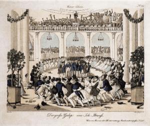 copper engraving of Johann Strausss Der grosse Galop