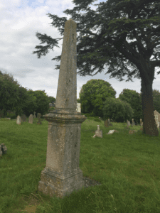 obelisk on Freemans grave at West Hill Cemetery