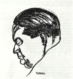 Drawing of Darius Milhaud