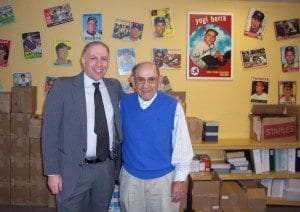 Evan Weiner with Yogi Berra