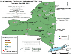 Fire Danger Map 4-22