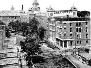 J & G Greenway & Company brewery on West Water Street, Syracuse courtesy Onondaga Historical Association