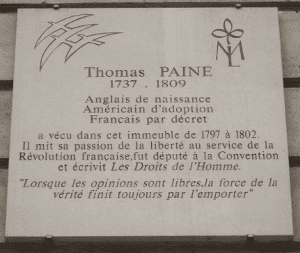 Plaque at 10 Rue de lOdéon Paris
