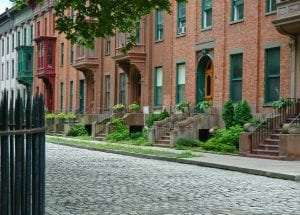 Restored Belgian block street, Washington Place courtesy Washington Park Neighborhoods